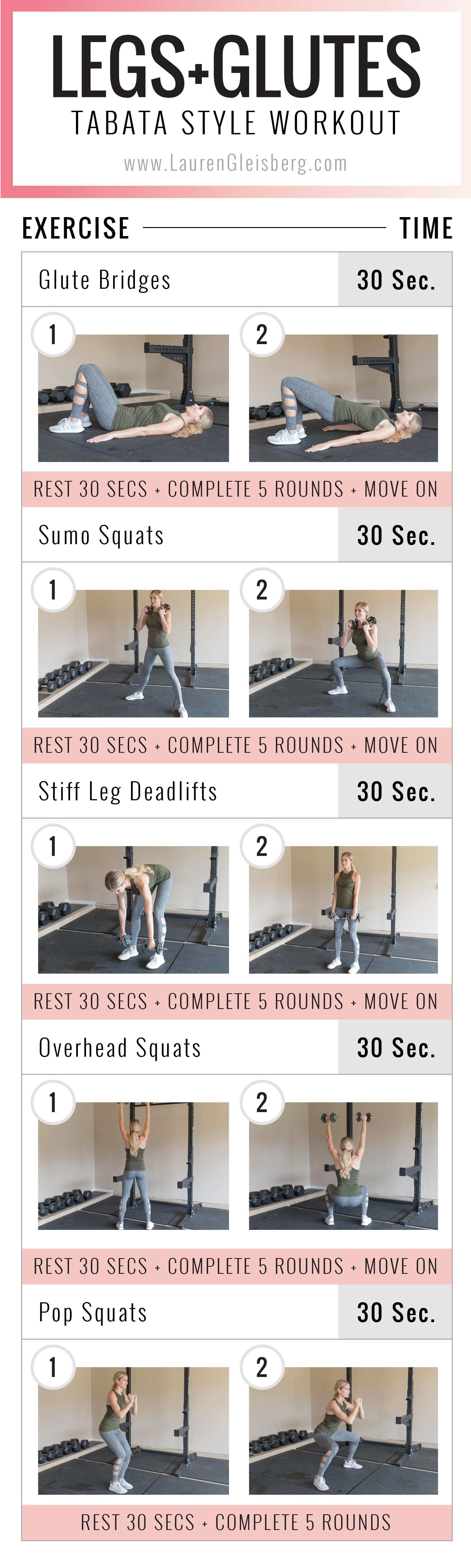 lauren gleisberg at home legs and glute workout