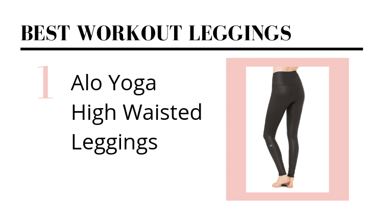 alo yoga high waisted black leggings