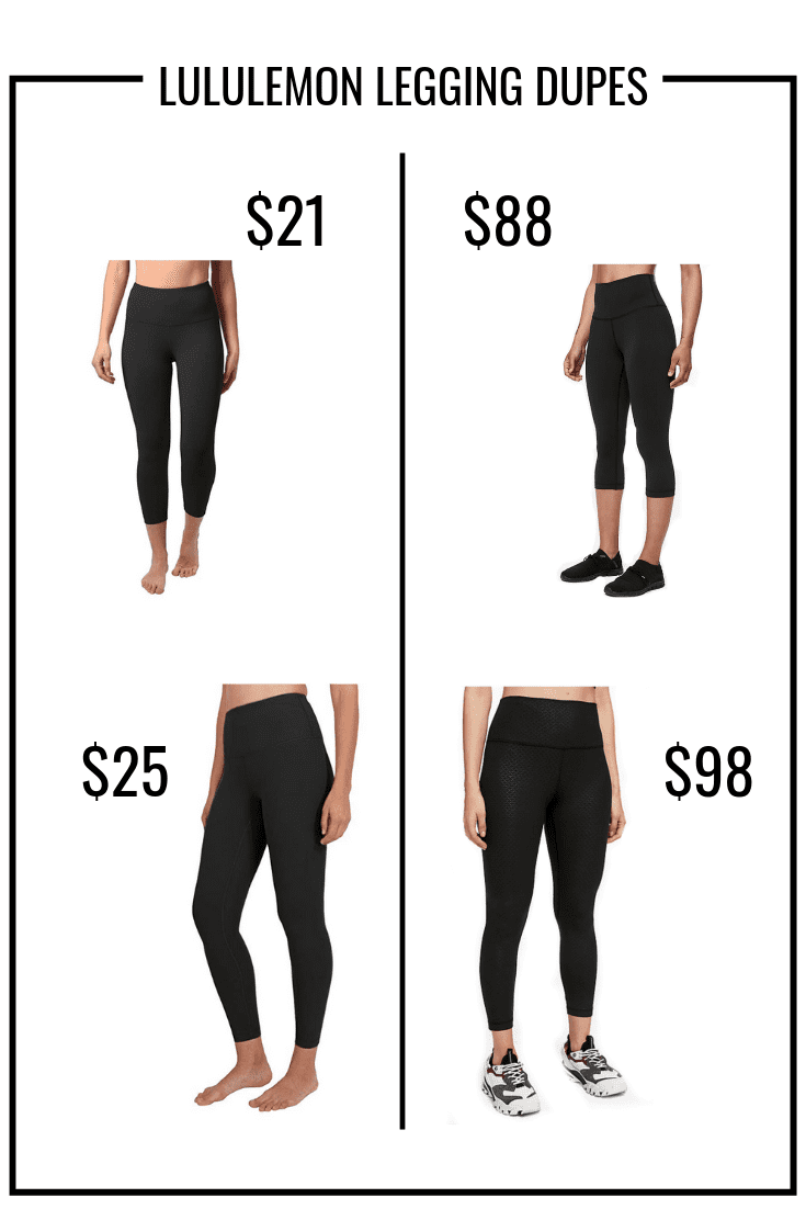 black lululemon leggings amazon dupes